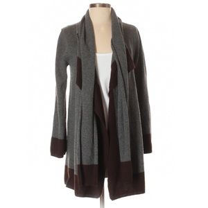 Cashmere & Wool Sweater Cardigan with Scarf Collar